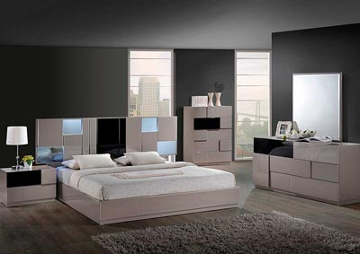 Bianca Queen Bed, Dresser, Mirror, Chest & Nightstand