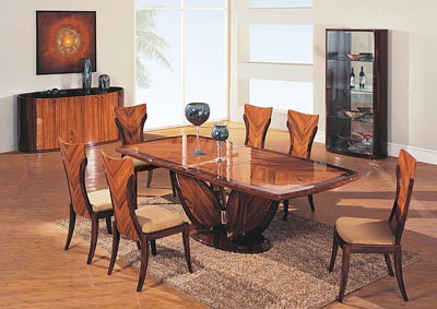 Contemporary Dining Table & 6 Chairs,Global Furniture USA