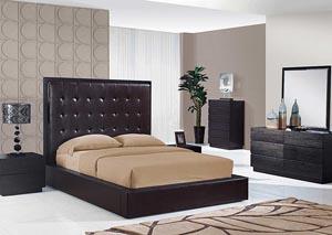 Metro Chocolate Queen Bed, Dresser & Mirror