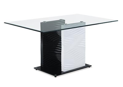 Clear Top Coffee Table w/ Black/White Legs