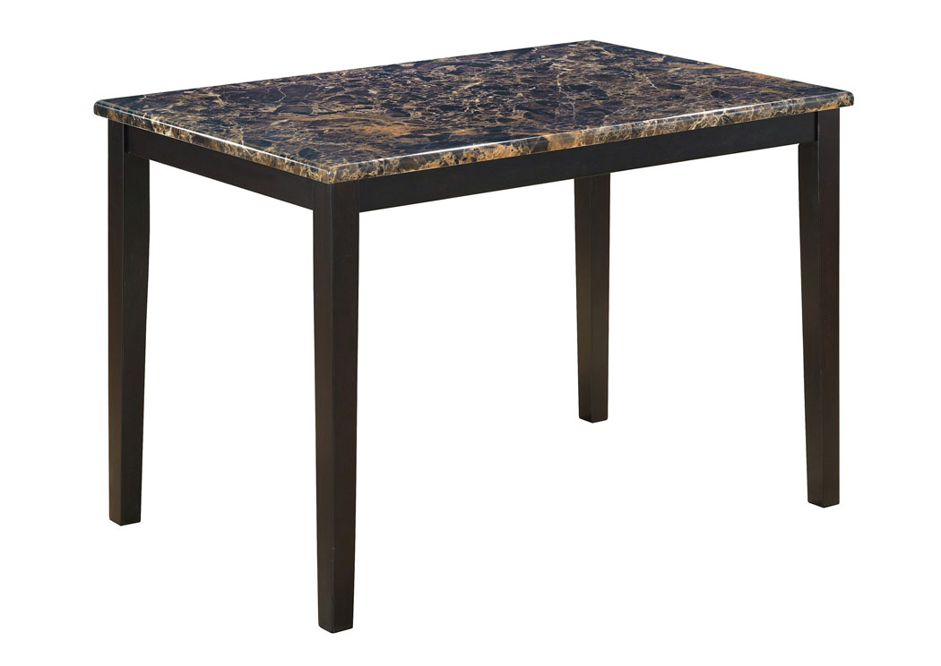 King 39 S Furniture Warehouse Brown Faux Marble Table