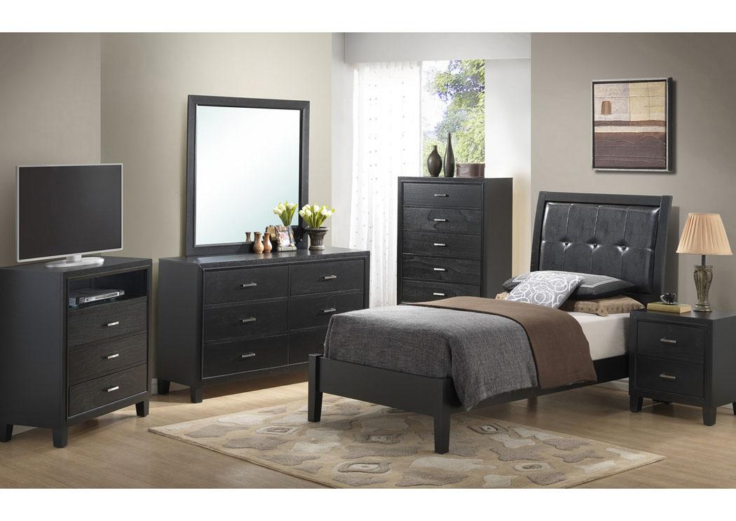 black twin bed dresser mirror glory furniture