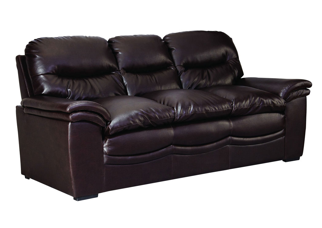 Brown bonded leather sofa homelegance midwood bonded for G furniture mall meerut