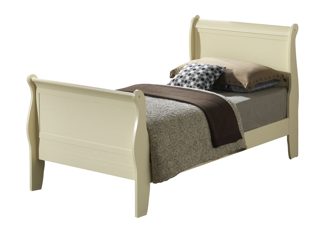 Best Buy Furniture And Mattress Beige Twin Sleigh Bed