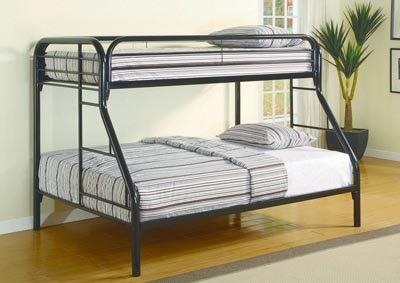 Black Twin/Full Bunkbed,Glory Furniture