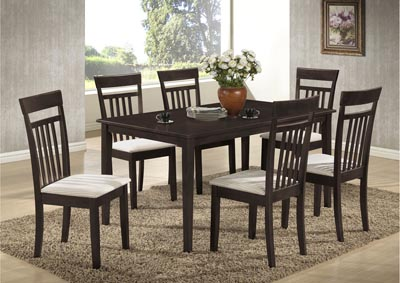 Wenge Table w/ 4 Side Chairs,Glory Furniture