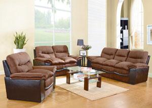 Chocolate Sofa & Loveseat,Glory Furniture