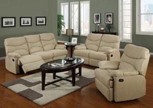 Beige Double Reclining Sofa & Loveseat,Glory Furniture