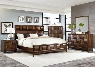 Porter Warm Walnut Queen Panel Bed,Homelegance