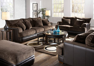 Barkley Chocolate Sofa & Loveseat