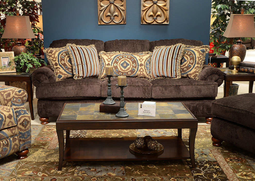 Price Point Furniture Belmont Mahogany Sofa