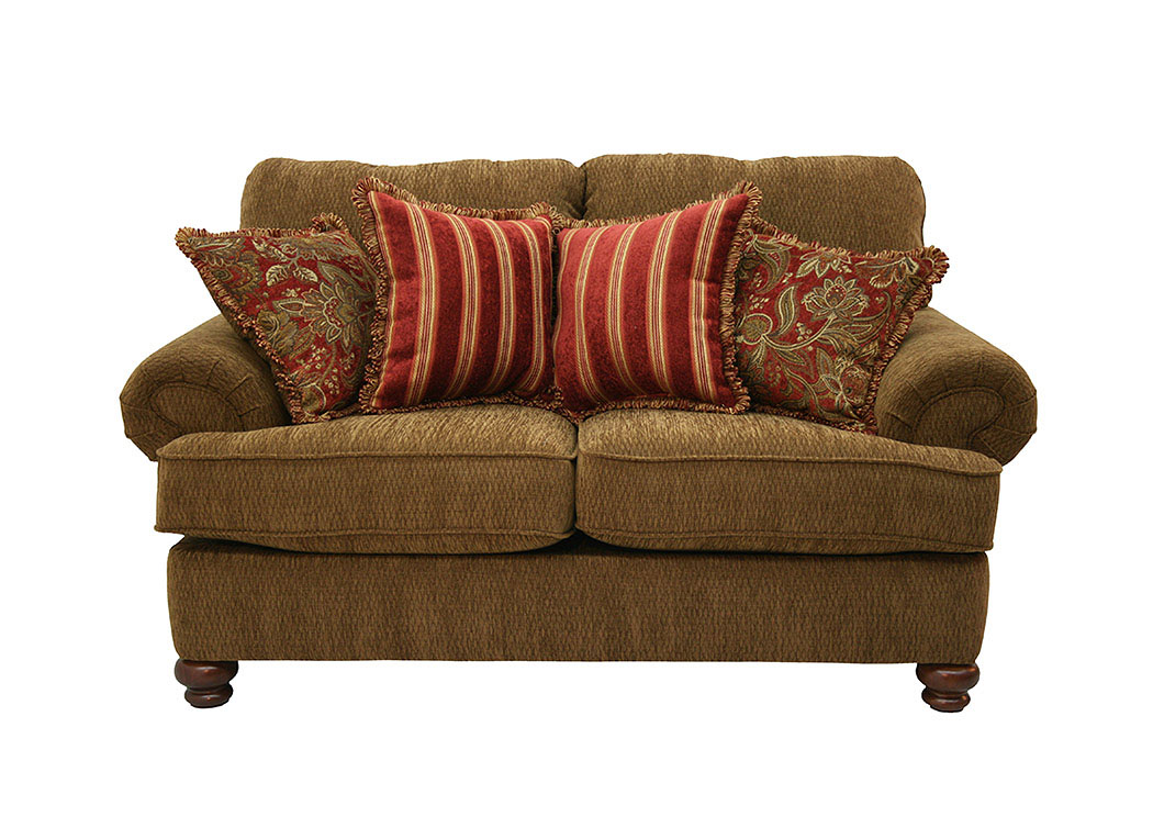 Overstock Furniture Langley Park Catonsville Alexandria Lanham Belmont Umber Loveseat