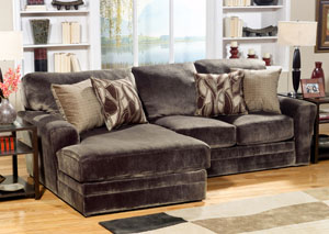 Everest Chocolate Chaise-End Sectional,Jackson