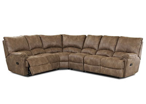 Briscoe Silt Reclining Sectional,Klaussner Home Furnishings