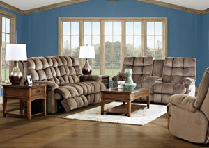 Brownsville Mocha Power Reclining Sofa & Power Reclining Loveseat w/ Console