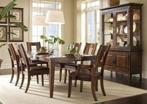 Carturra Dining Table w/ 4 Side Chairs