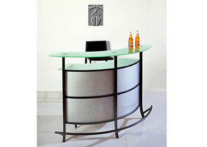 Chelsea Frosted Glass Top Contemporary Bar Table