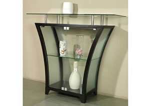 Flair Merlot Bar Table w/ Raised Glass Shelf