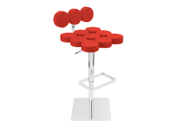 Mushroom Red Bar Stool