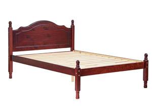 Reston Panel Bed, Full Mahogany ,Palace Imports