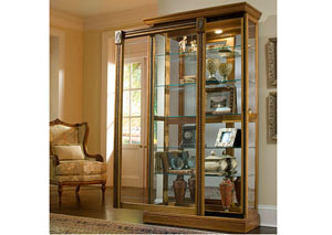 Two Way Sliding Door Curio,Pulaski Furniture