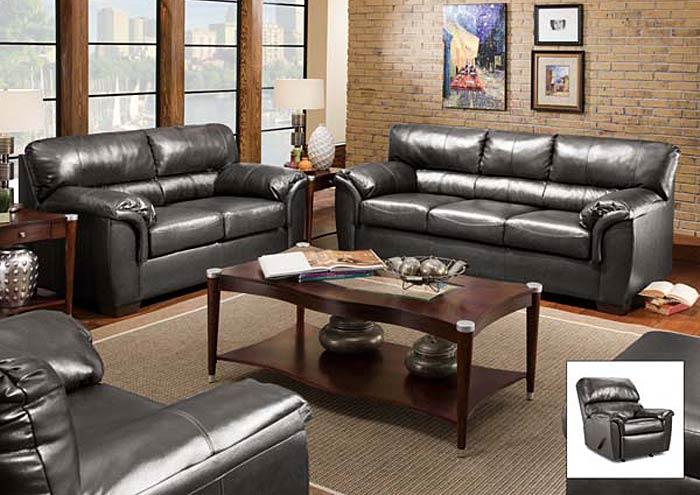 Affordable Furniture Houston Charcoal Sofa