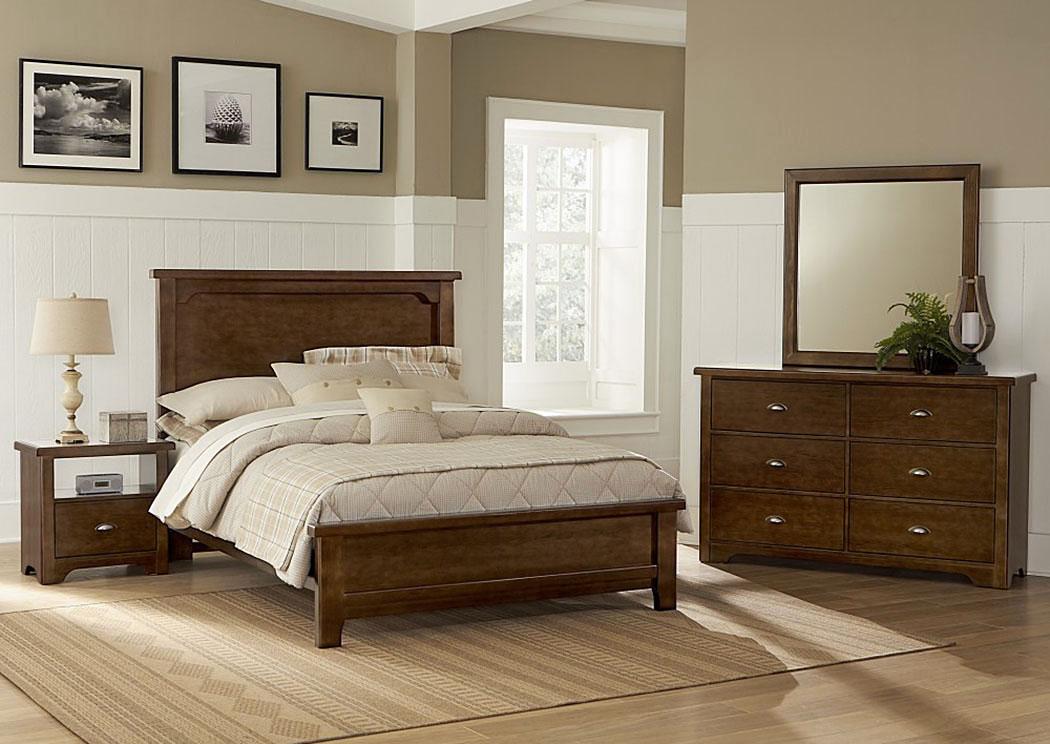 D Day Cherry King Panel Bed w  Dresser and Mirror Vaughan Bassett. Furniture Liquidators Home Center D Day Cherry King Panel Bed w